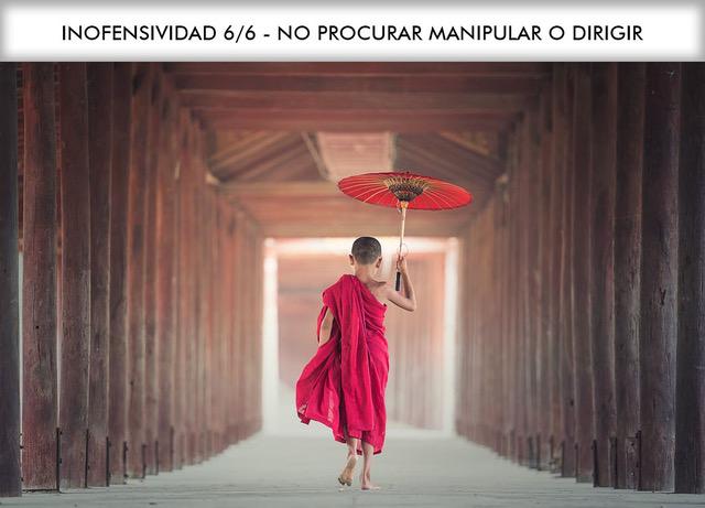 INOFENSIVIDAD 6/6 – NO PROCURAR MANIPULAR O DIRIGIR