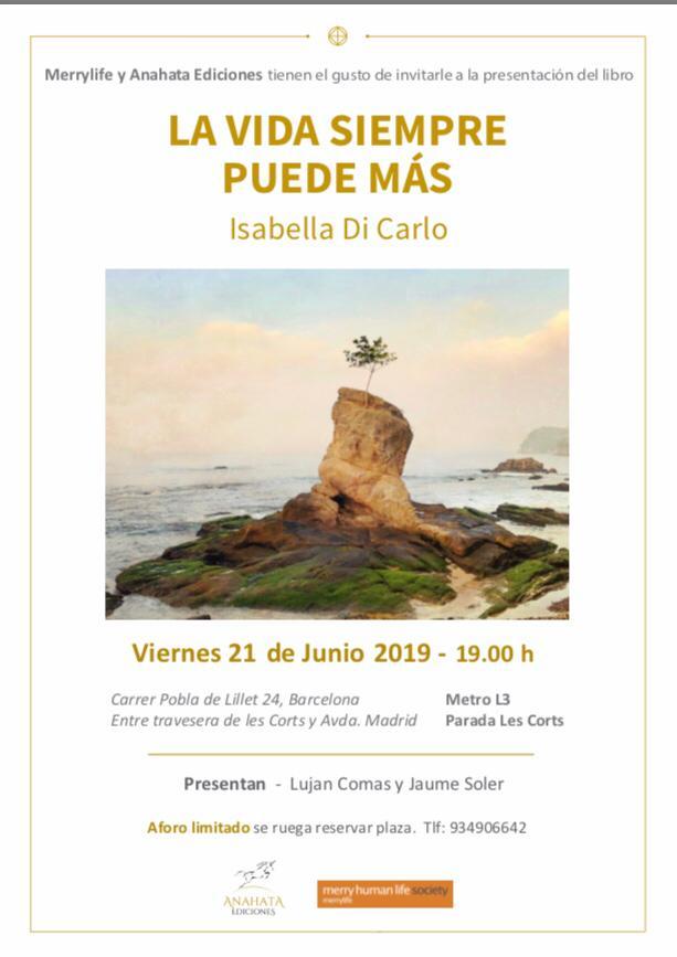 LA VIDA SIEMPRE PUEDE MÁS – Presentación del libro en Barcelona