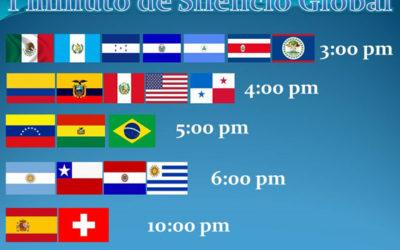 MINUTO DE SILENCIO GLOBAL                                        Y SEMANA DEL FESTIVAL MUNDIAL DE SERVIDORES